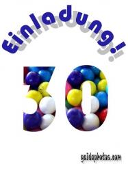 kostenlose Einladungskarten zum 30. Geburtstag
