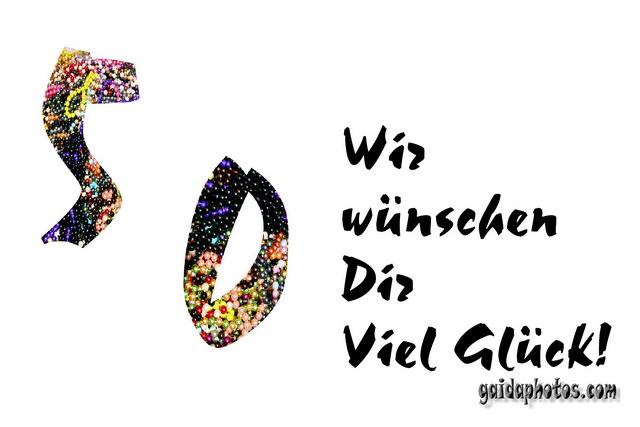 50 Geburtstag: Karten, Einladung- und Danke-Schön-Karten