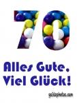 70. Geburtstag - Geburtstagskarten
