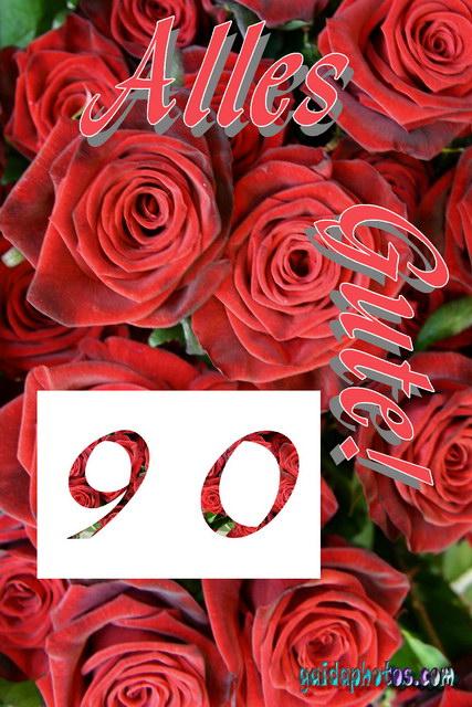 Geburtstagskarten zum ausdrucken 90