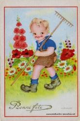 alte Karte zum Geburtstag