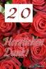 Dankeskarten zum 20zigsten Geburtstag