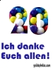 Dankeskarten zum 20zigsten Geburtstag