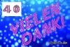 40 Geburtstag: Danksagungskarten kostenlos ausdrucken