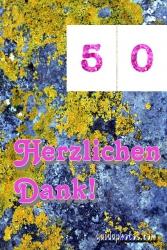 Danksagungskarten zum 50 Geburtstag