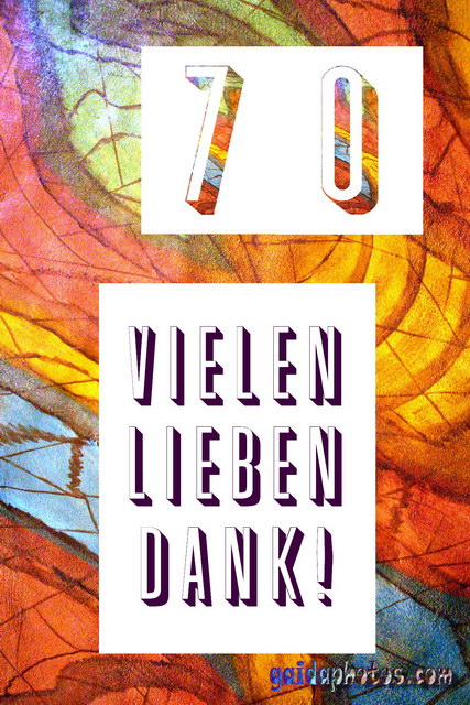 70 Geburtstag: Danksagungskarten