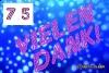75 Geburtstag: gratis Dankeskarten