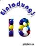 Einladung zum 18 Geburtstag